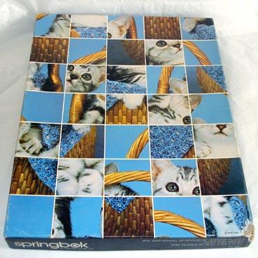 Here Kitty Kitty Springbok Cats Jigsaw Puzzle