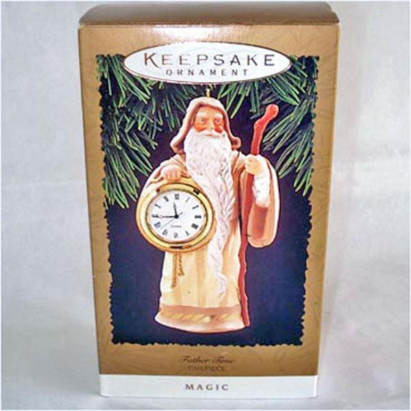 Hallmark 1996 Father Time Timepiece Clock Christmas Ornament MIB