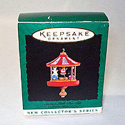 Hallmark 1995 Miniature Santa's Little Big Top Christmas Ornament