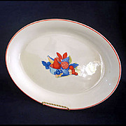 Universal Pottery Calico Fruit Oval Serving Platter