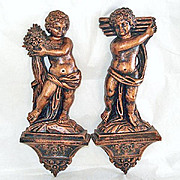 Coppercraft Guild Bronze Copper Plastic Cherub Wall Plaques