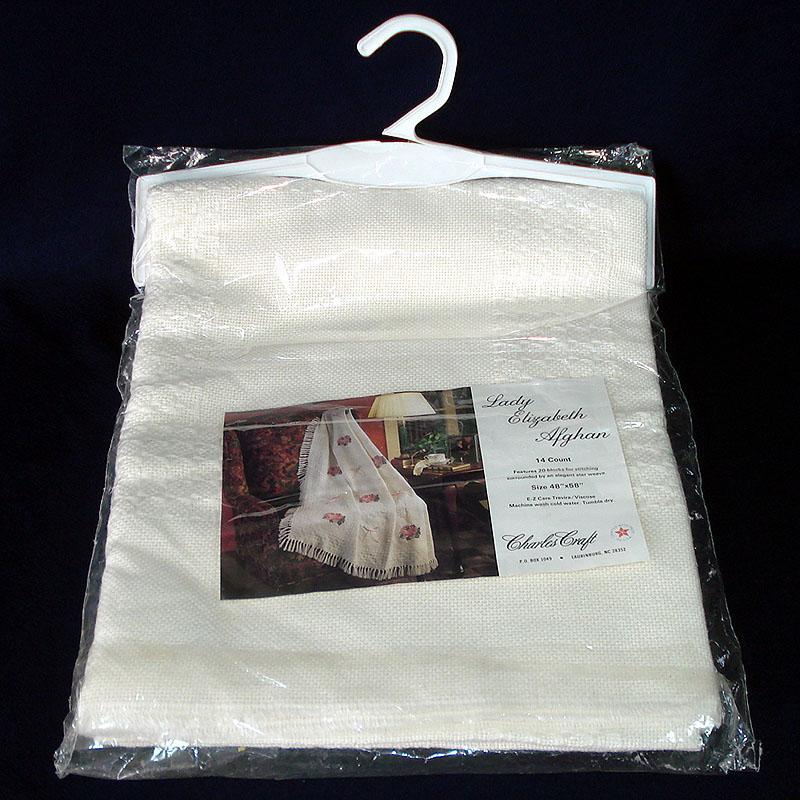 Charles Craft Lady Elizabeth Afghan For Cross Stitch