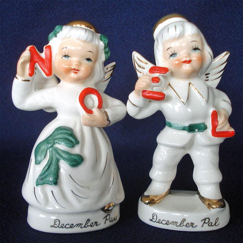 Kewpie Style Choir Boy Figurines 1950s Japan