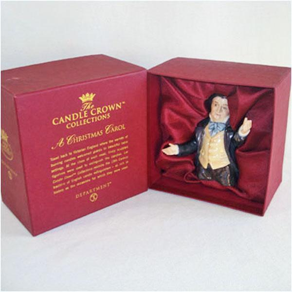Dept 56 Mr Fezziwig Christmas Carol Candle Crown Mint in Box