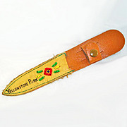 Beaded Leather Yellowstone Park Souvenir Knife Sheath