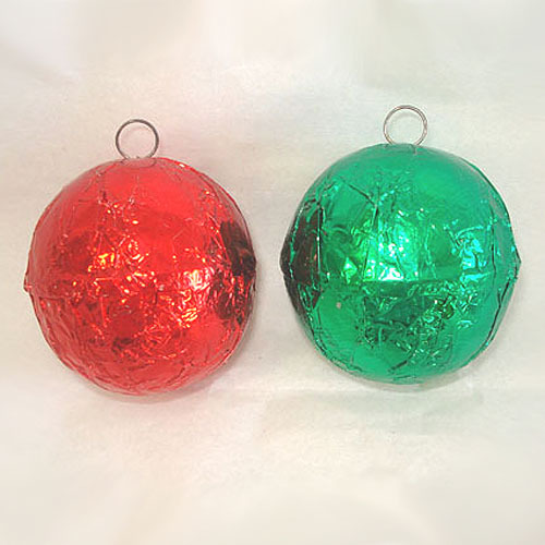 Red and Green 1930s Foil Candy Container Christmas Ornaments