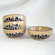 Pfaltzgraff Folk Art Fruit or Dessert Bowls Set of 4