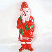 Irwin Celluloid Santa Claus Holding Roses