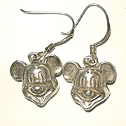 Mickey Mouse Metal Pierced Earrings