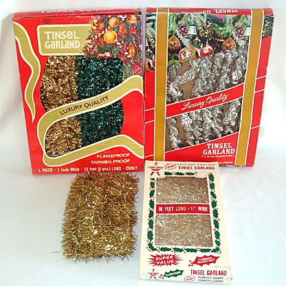 Assortment 4 Packages Christmas Tinsel Garland