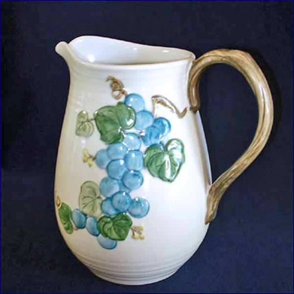Metlox Sculptured Grape 64 Ounce Water Pitcher