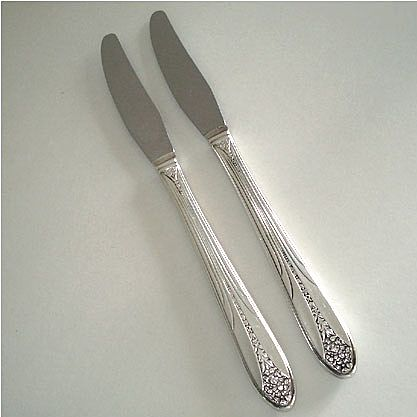 Princess Royal National Silver Silverplate Grille Knife, 8 Available