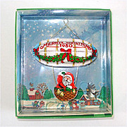 Hallmark 1980 Santa's Flight Christmas Ornament Mint in Box
