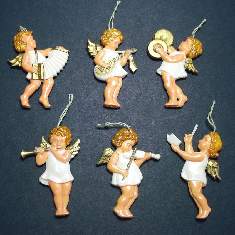 Germany Barefoot Angels Plastic Christmas Ornaments