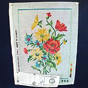 DMC French Flower Bouquet Needlepoint Canvas to Stitch