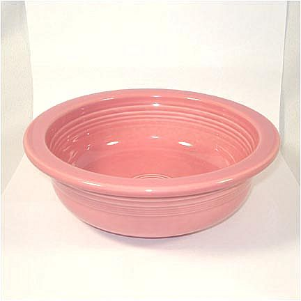 Fiesta Rose Pink Vegetable Bowl