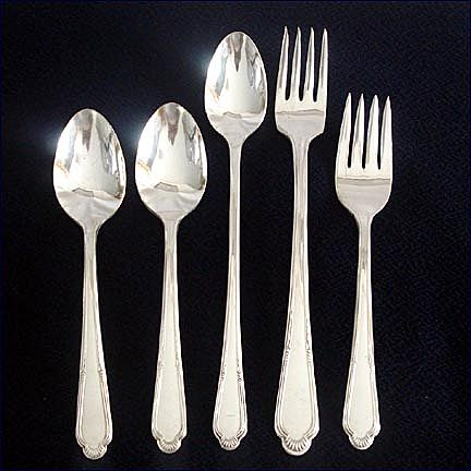 Laurel International Cunningham Silverplate Flatware Lot Forks and Spoons