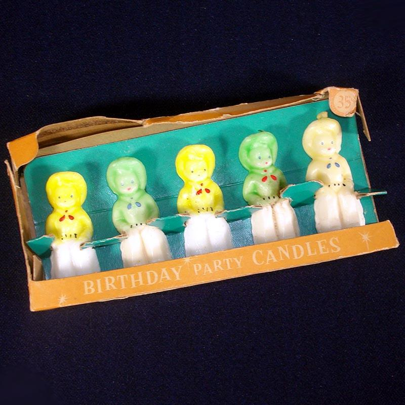 1950s Set 4 Gurley Cowboy Figural Birthday Candles