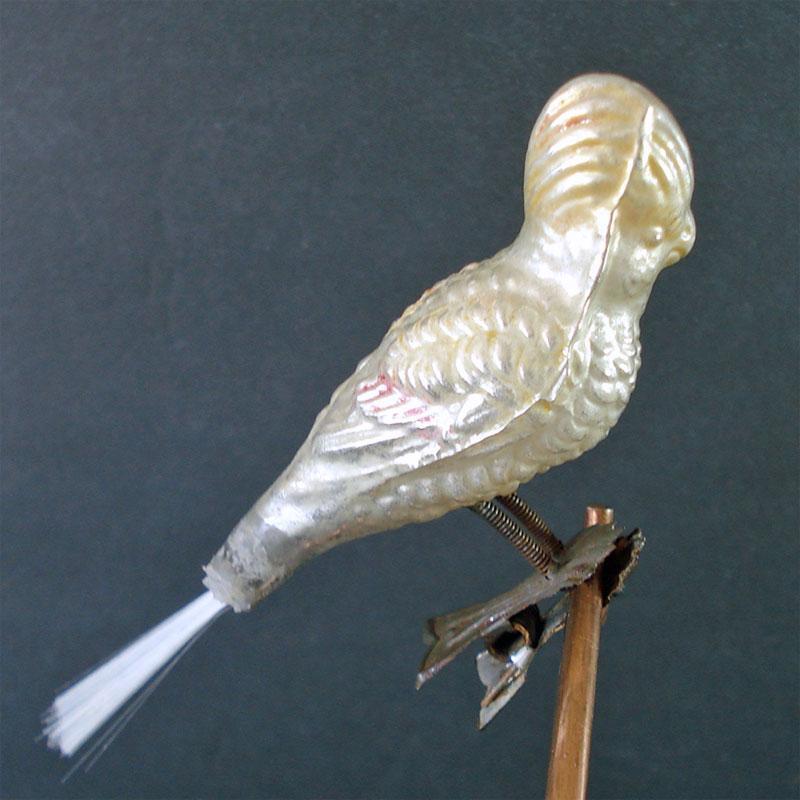 Early German Horn Blower Lady Figural Christmas Light Bulb