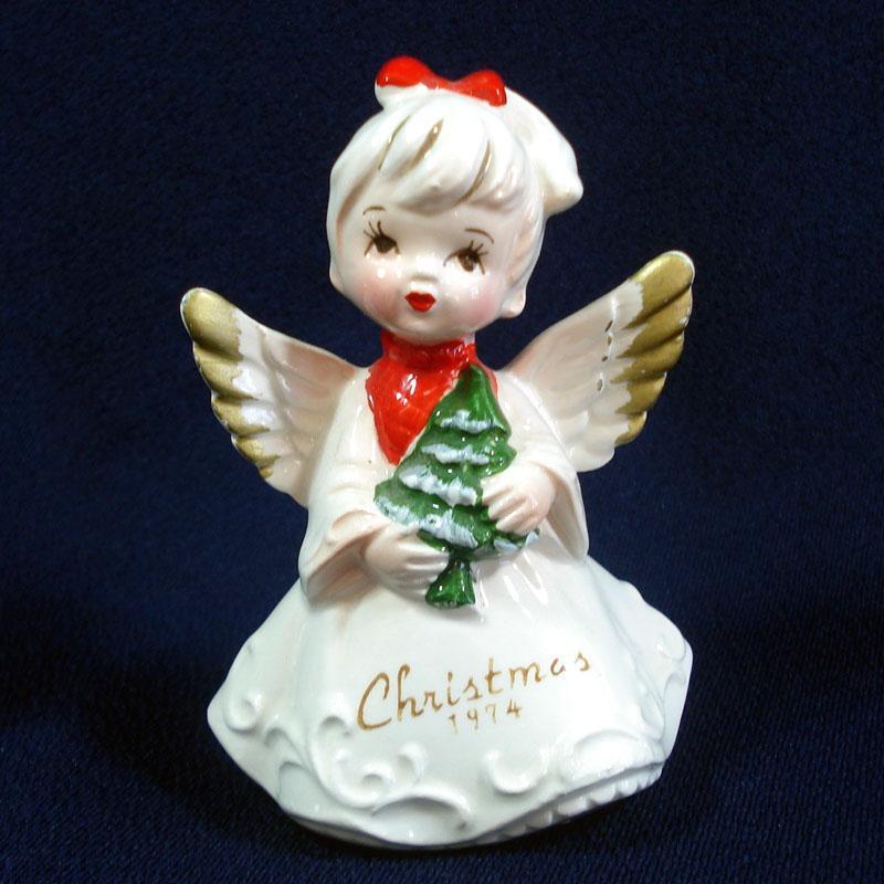 Christmas 1974 Japan Porcelain Ponytail Angel Figurine
