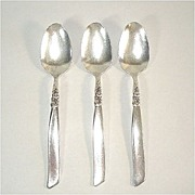 South Seas Oneida 3 Silverplate Teaspoons