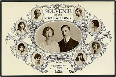 """""""Souvenir of the Royal Wedding""""  (1922)"""