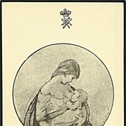 """""""Mother and Child"""" signed Hedwig Collin  (1930')"""