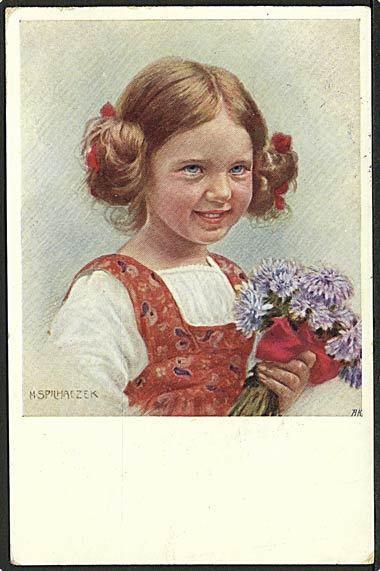 """Girl with Flowers""  (1915)"