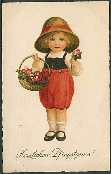 """Girl with Flower Basket""  (1925)"