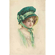 """Woman in green Bonnet""  (1913)"