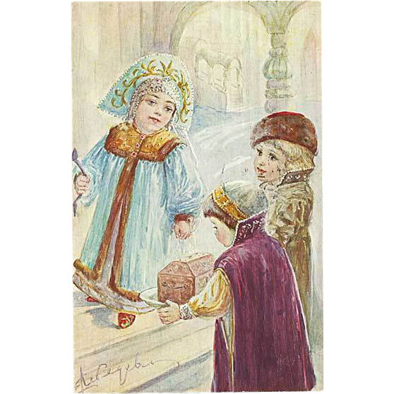 """Children in Orthodox Gowns""  (1911)"