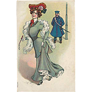 """""""Woman and Constable""""  (1913)"""