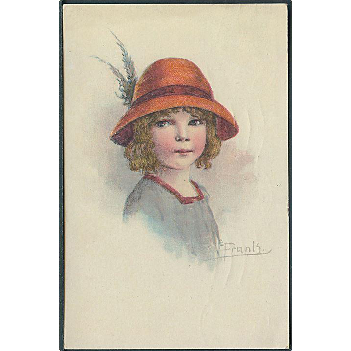 """Girl in red Hat with Feather""  (1922)"