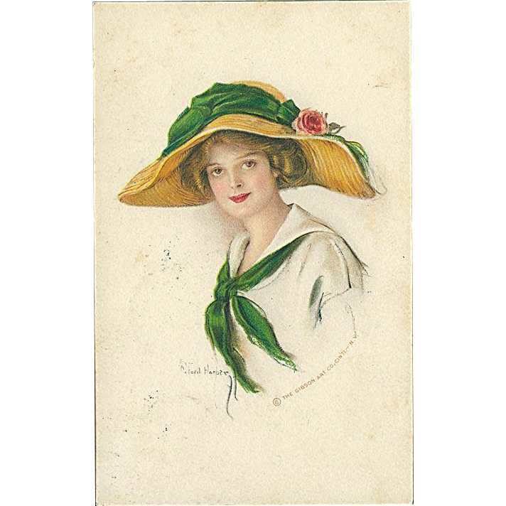 """Woman in Straw Hat with green Ribbon""  (1914)"