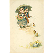 """Cute little Children and Chickens""  (1916)"