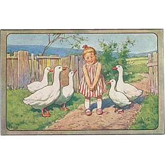 """""""Girl with Geese""""  (1950')"""