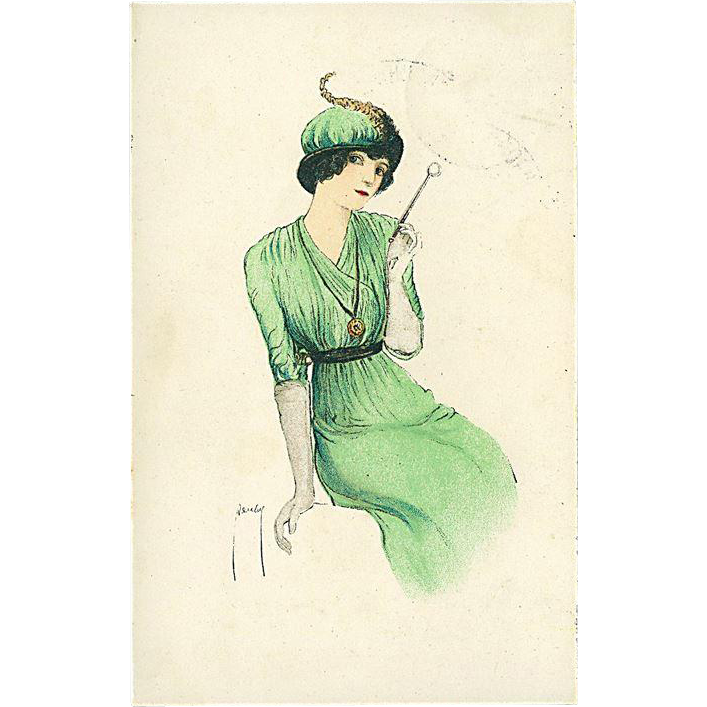 """Woman in Green""  (1917)"