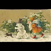 """Goblin, Snow Man and Dog""""  (1905)"""