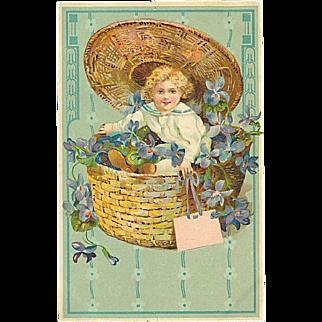"""""""Child in Basket""""  (1910)"""