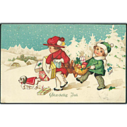 """Dog, Boy and Girl with Christmas Presents""  (1926)"