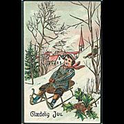 """""""Girl on Sledge""""  (1917)"""
