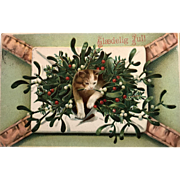 """Letter with Kitten and Holly""  (1909)"