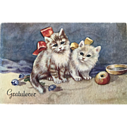 """Two sad Kittens""  (1950')"