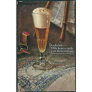"""Glass with foaming Beer""  (1911)"