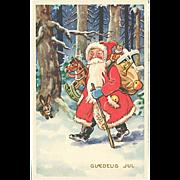 """""""Santa Claus walking through the Woods""""  (1969)"""