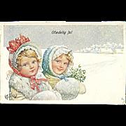 """Girls in snowy Weather""  (1919)"