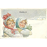 """Girls in snowy Weather""  (1919)"