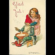 """""""Girl teases Goblin""""  (1916)"""