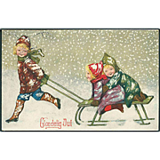 """Children with Sledge""  (1920)"