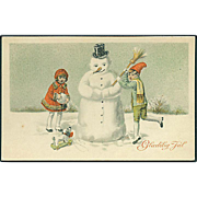 """Snow Man Constructing"" (1928)"